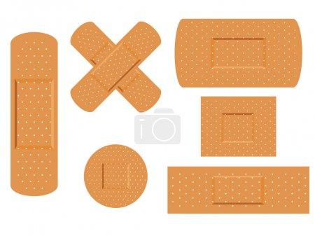 Illustration pour Illustration vectorielle du plâtre médical de premiers secours - image libre de droit