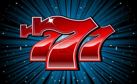 Lucky seven 777 slot machine font