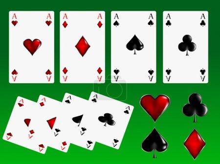 Illustration pour Illustration vectorielle des cartes de poker - image libre de droit