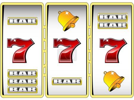 Lucky seven slot machine vector