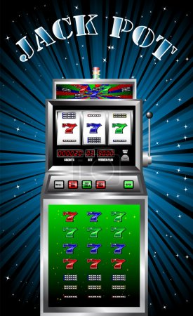 Lucky seven slot machine vector