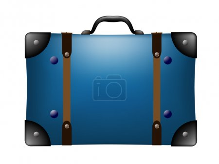 Illustration for Vector illustrated travel suitcase - Royalty Free Image
