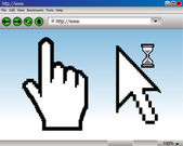 Vector illustrated website and cursors