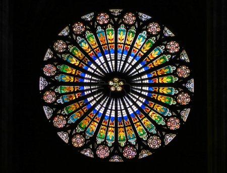 Foto de Vidriera de la Catedral de Estrasburgo (Estrasburgo, Francia). - Imagen libre de derechos