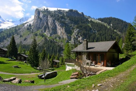 Photo for Holiday houses in Swiss Alps - Royalty Free Image