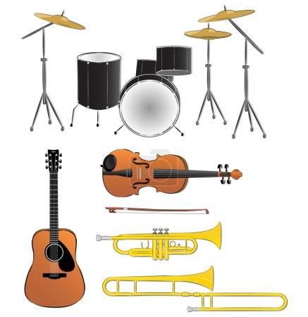 Musical instruments illustrations
