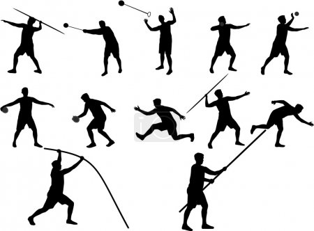 Illustration for Athletics silhouettes - Royalty Free Image