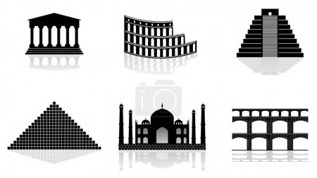 Historical monuments vector illustration