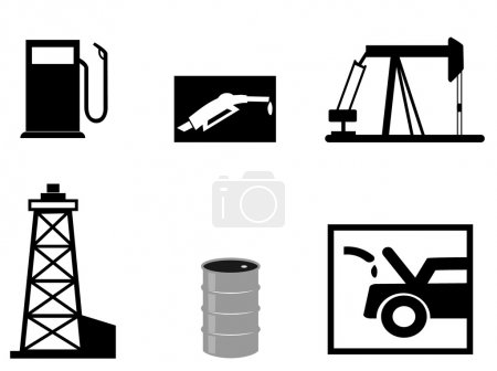 Petrol vector illustrations