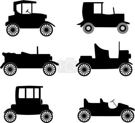 Old timer cars illustration
