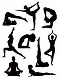 Yoga silhouettes - vector