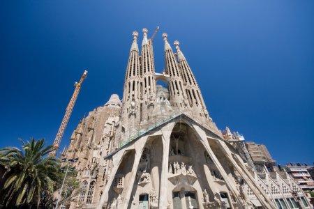 Photo pour Sagrada Familia à Barcelone, Espagne. (A.) Gaudy ! ) - image libre de droit