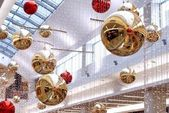 New Year's decorations in the malls