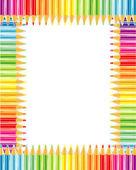 Pencils frame or border