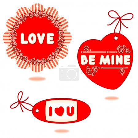 Valentine or romantic gift tags, cards