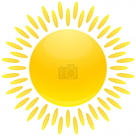 Photo for Cartoon glossed sun illustration - Royalty Free Image