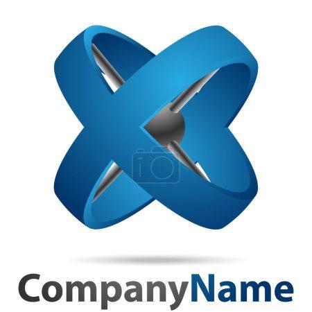 Illustration pour Logo d'entreprise créative croix - image libre de droit