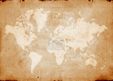 Photo for Vintage world map,2D digital art - Royalty Free Image