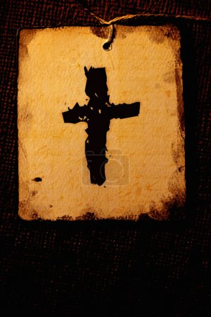 Photo for Old Holy cross flag - Royalty Free Image