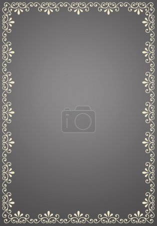 Photo for Decorative border,2D art - Royalty Free Image