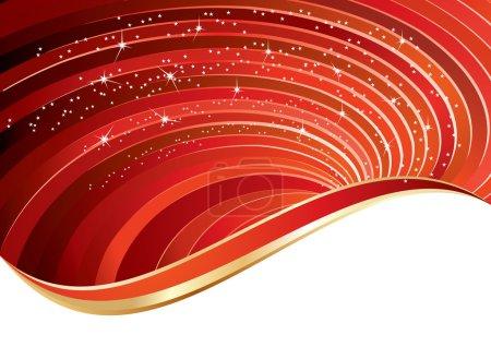 Illustration pour Fond de fête ondulé rouge, illustration vectorielle - image libre de droit