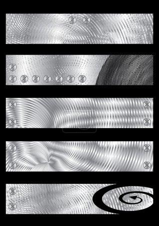 bannières texturées métalliques
