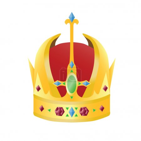 Gold crown with precious stones