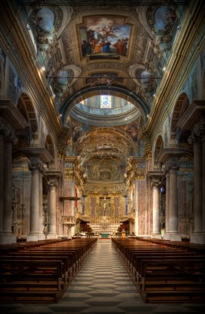 Baroque Basilica San Giovanni Battista in Finale L...