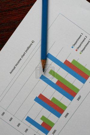 Photo pour Graphique d'affaires, ventes, revenu, graphique - image libre de droit