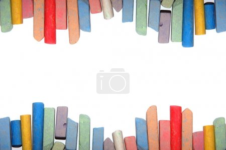 Photo for Frame from a colour children's chalk for drawing - Royalty Free Image