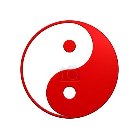 Red Yin-Yang, symbol of harmony