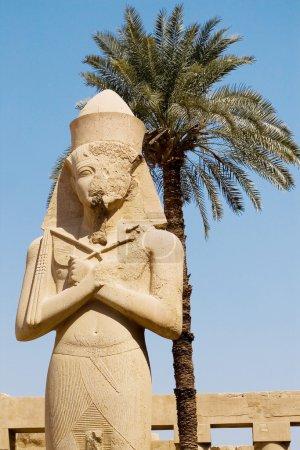 Photo pour Statue de Ramsès ii à karnak, Louxor, Égypte - image libre de droit