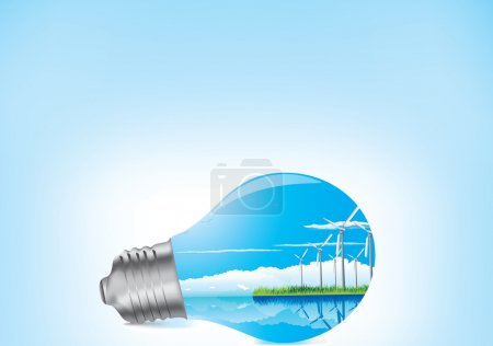 Light bulb ecology concept...