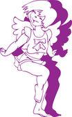 Dancing little angel - girl