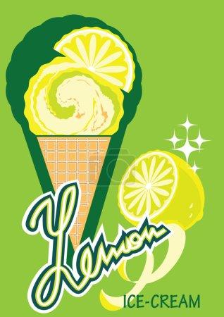Illustration pour Il y a quelques éléments de la conception de l'emballage de la crème glacée - image libre de droit