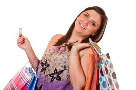 Happy shopping with credit card
