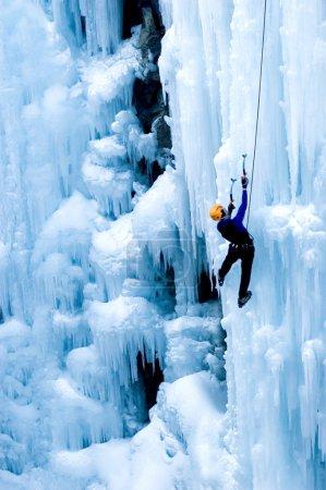 Portrait of ice climber