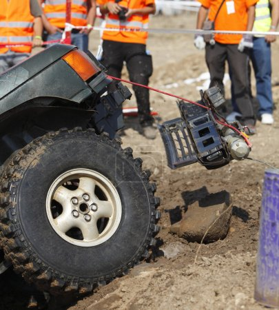 Incident during an off road competition