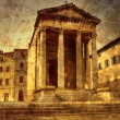 Ancient temple of Roma and Augustus in Pula - pict...