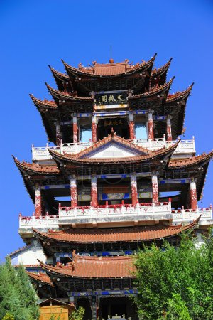 China Temples pavilions and sky