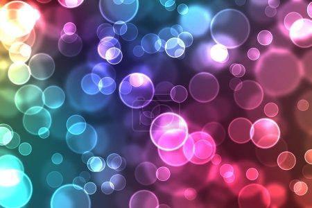 Foto de Abstractos círculos brillantes sobre un fondo colorido - Imagen libre de derechos