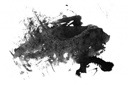 Photo for Abstract Grunge Paint blob on white background - Royalty Free Image
