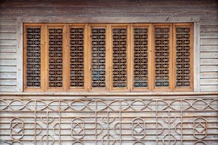 Wood carving window