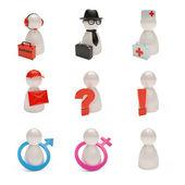 3D Charakter-Sammlung für web