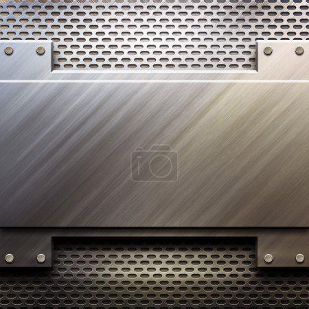 Photo pour Gabarit métallique avec espace vide - image libre de droit