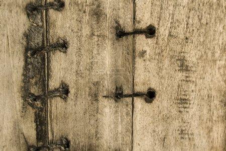 Photo pour Bateau en bois avec points de fond texturé avec espace de texte - image libre de droit