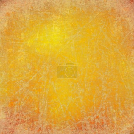 Photo for Grunge sunny yellow scratched background - Royalty Free Image