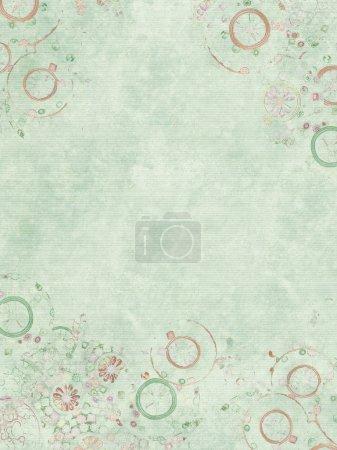 Photo pour Bijou imprimé pâle sur parchemin côtelé bleu pâle - image libre de droit