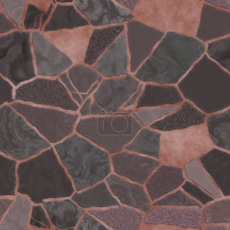 Broken mosaic background texture