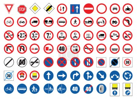 Illustration for Traffic signs - Royalty Free Image